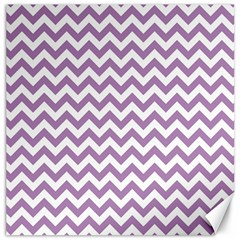 Lilac And White Zigzag Canvas 20  x 20  (Unframed)