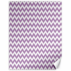 Lilac And White Zigzag Canvas 18  x 24  (Unframed)
