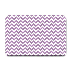 Lilac And White Zigzag Small Door Mat