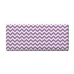Lilac And White Zigzag Hand Towel