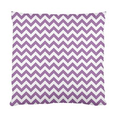 Lilac And White Zigzag Cushion Case (Two Sided)