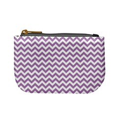 Lilac And White Zigzag Coin Change Purse