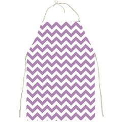 Lilac And White Zigzag Apron