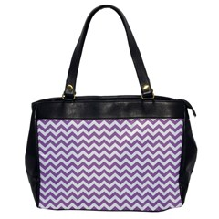 Lilac And White Zigzag Oversize Office Handbag (one Side)