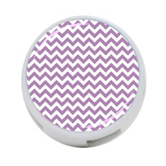 Lilac And White Zigzag 4 Port Usb Hub (two Sides)