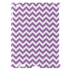 Lilac And White Zigzag Apple iPad 3/4 Hardshell Case (Compatible with Smart Cover)