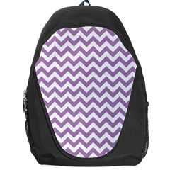 Lilac And White Zigzag Backpack Bag