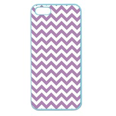 Lilac And White Zigzag Apple Seamless iPhone 5 Case (Color)
