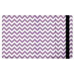 Lilac And White Zigzag Apple iPad 3/4 Flip Case