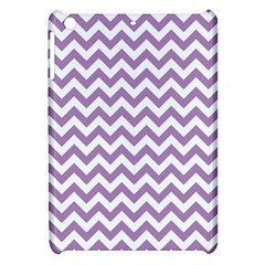 Lilac And White Zigzag Apple iPad Mini Hardshell Case