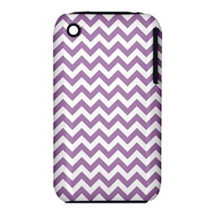 Lilac And White Zigzag Apple iPhone 3G/3GS Hardshell Case (PC+Silicone)