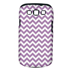 Lilac And White Zigzag Samsung Galaxy S III Classic Hardshell Case (PC+Silicone)