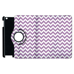 Lilac And White Zigzag Apple iPad 2 Flip 360 Case