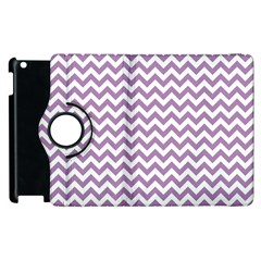 Lilac And White Zigzag Apple iPad 3/4 Flip 360 Case