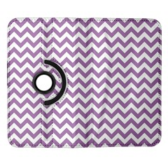 Lilac And White Zigzag Samsung Galaxy Note II Flip 360 Case