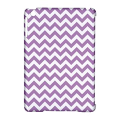 Lilac And White Zigzag Apple iPad Mini Hardshell Case (Compatible with Smart Cover)