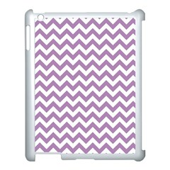 Lilac And White Zigzag Apple iPad 3/4 Case (White)