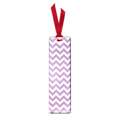 Lilac And White Zigzag Small Bookmark