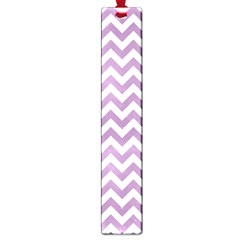 Lilac And White Zigzag Large Bookmark