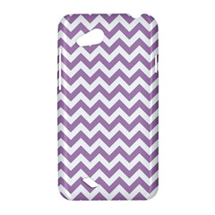 Lilac And White Zigzag HTC Desire VC (T328D) Hardshell Case