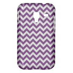 Lilac And White Zigzag Samsung Galaxy Ace Plus S7500 Hardshell Case