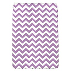 Lilac And White Zigzag Removable Flap Cover (Large)
