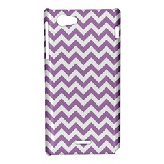 Lilac And White Zigzag Sony Xperia J Hardshell Case