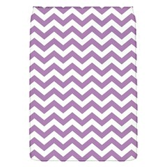 Lilac And White Zigzag Removable Flap Cover (Small)