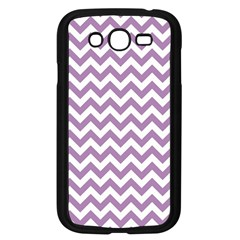 Lilac And White Zigzag Samsung Galaxy Grand DUOS I9082 Case (Black)