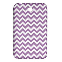 Lilac And White Zigzag Samsung Galaxy Tab 3 (7 ) P3200 Hardshell Case