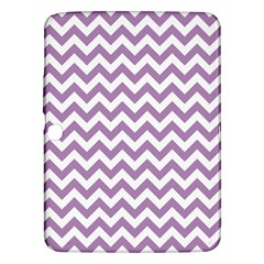 Lilac And White Zigzag Samsung Galaxy Tab 3 (10.1 ) P5200 Hardshell Case
