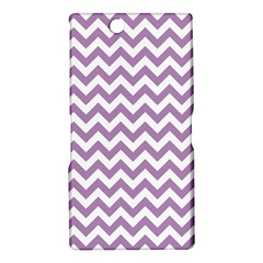 Lilac And White Zigzag Sony Xperia Z Ultra (XL39H) Hardshell Case