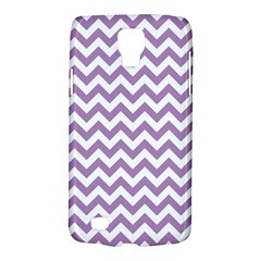 Lilac And White Zigzag Samsung Galaxy S4 Active (I9295) Hardshell Case
