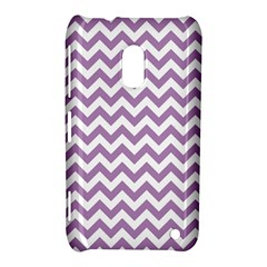 Lilac And White Zigzag Nokia Lumia 620 Hardshell Case
