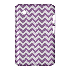 Lilac And White Zigzag Samsung Galaxy Tab 2 (7 ) P3100 Hardshell Case