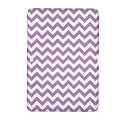 Lilac And White Zigzag Samsung Galaxy Tab 2 (10 1 ) P5100 Hardshell Case