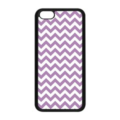 Lilac And White Zigzag Apple iPhone 5C Seamless Case (Black)