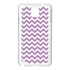 Lilac And White Zigzag Samsung Galaxy Note 3 N9005 Case (White)