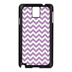 Lilac And White Zigzag Samsung Galaxy Note 3 N9005 Case (Black)