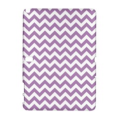 Lilac And White Zigzag Samsung Galaxy Note 10.1 (P600) Hardshell Case