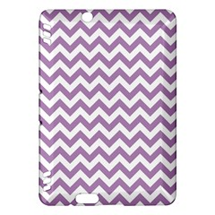Lilac And White Zigzag Kindle Fire HDX 7  Hardshell Case