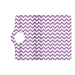 Lilac And White Zigzag Kindle Fire HD 7  (2nd Gen) Flip 360 Case