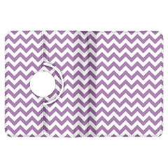 Lilac And White Zigzag Kindle Fire Hdx 7  Flip 360 Case