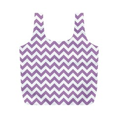 Lilac And White Zigzag Reusable Bag (M)