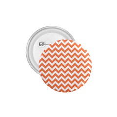 Orange And White Zigzag 1.75  Button