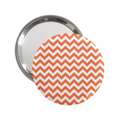 Orange And White Zigzag Handbag Mirror (2.25 )
