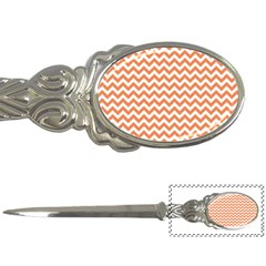 Orange And White Zigzag Letter Opener