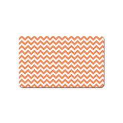 Orange And White Zigzag Magnet (name Card)