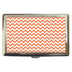 Orange And White Zigzag Cigarette Money Case