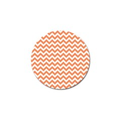 Orange And White Zigzag Golf Ball Marker 4 Pack